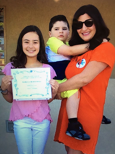 Isabella Romanelli Student of the Month with Mother, Nicole Romanelli