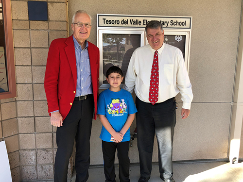 Michael Schlesinger, William Batchley and Principal Paul Martinsen